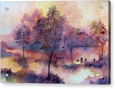 October Acrylic Print by James Huntley
