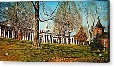 October Lawn Acrylic Print by Thomas Akers