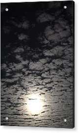 Acrylic Print featuring the pyrography October Moon by Joel Loftus