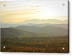 October Mountains Acrylic Print
