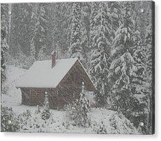 October Snowfall  --  British Columbia  Acrylic Print