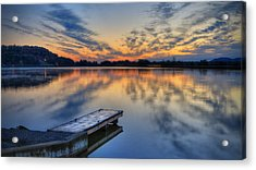 October Sunrise At Lake White Acrylic Print