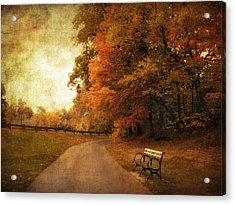 October Tones Acrylic Print by Jessica Jenney