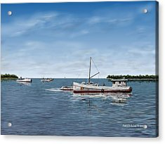 October's Catch Acrylic Print by Patrick Belote