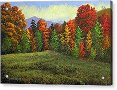 Octobers Ending Acrylic Print by Frank Wilson