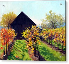 October's Golden Glow Acrylic Print