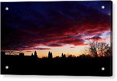October's Last Sunset Acrylic Print