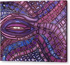 Acrylic Print featuring the painting Octopus Eye by Barbara St Jean