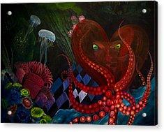 Octopus Heart Acrylic Print
