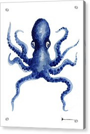 Octopus Watercolor Art Print Paniting Acrylic Print