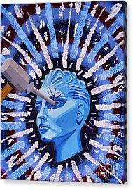 Ocular Migraine Acrylic Print by Vicki Maheu