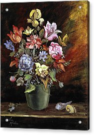 Acrylic Print featuring the painting Ode To Bathasar Van Der Ast by Vic  Mastis
