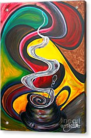 Ode To Coffee... Acrylic Print by Jolanta Anna Karolska