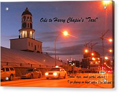 Ode To Harry Chapins Taxi Acrylic Print