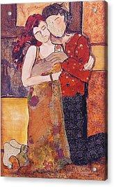 Ode To Klimt Acrylic Print by Debi Starr