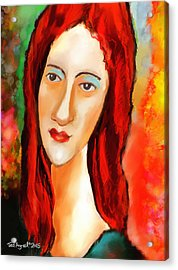 Ode To Modigliani Acrylic Print by Ted Azriel