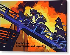 Ode To Our Heros Acrylic Print by John Malone