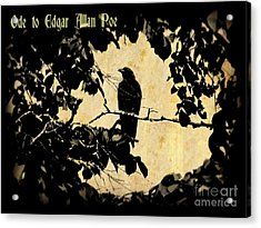 Ode To Poe Acrylic Print by John Malone