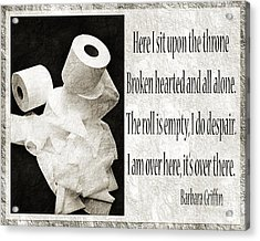 Ode To The Spare Roll Bw 2 Acrylic Print by Andee Design
