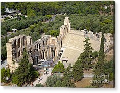 Odeon Of Herodes Atticus  Acrylic Print by George Atsametakis