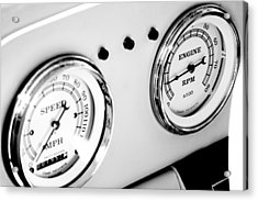 Odometer And Tachometer Of An Antique Car Acrylic Print by Celso Diniz
