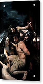 Odysseus And The Sirens Acrylic Print by Eric  Armusik