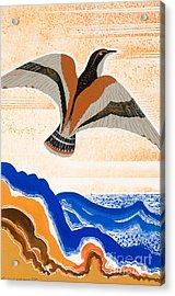 Odyssey Illustration  Bird Of Potent Acrylic Print by Francois-Louis Schmied