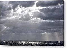 of Clouds and Sun. Acrylic Print by Allen Carroll