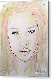 Acrylic Print featuring the mixed media Of Colour And Beauty - Pink by Malinda Prudhomme