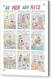 Of Men And Mice Acrylic Print by Roz Chast