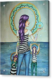 Of The Sea Acrylic Print by Lucy Stephens