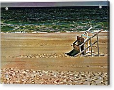 Acrylic Print featuring the pyrography Off Season by Allen Beilschmidt