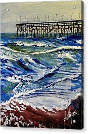 Off Season At Northtopsail Acrylic Print by Jim Phillips