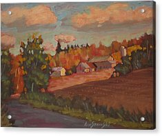 Acrylic Print featuring the painting Off The Beat'n Path by Len Stomski