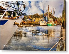 Off The Starboard Bow Acrylic Print by Debra and Dave Vanderlaan