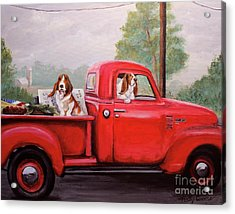 Off To Market Acrylic Print by Holly Connors