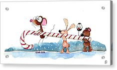 Off To The North Pole Acrylic Print by Lucia Stewart