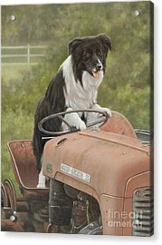 Off To Work II Acrylic Print by John Silver