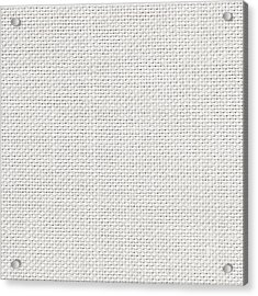 Off White Textile Acrylic Print by Tom Gowanlock