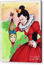 Off With Her Head Acrylic Print by Bibo