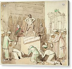 Offering Gold To Charles James Fox Acrylic Print by British Library