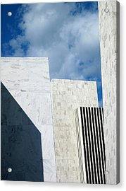 Acrylic Print featuring the photograph Office Building Abstract by Mary Bedy