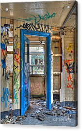 Office Closed Acrylic Print by David Birchall