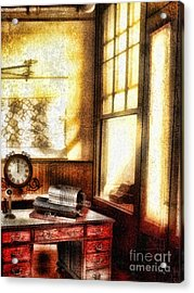 Office Acrylic Print by Mo T