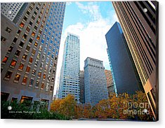 Office Space For Rent In Downtown San Francisco Acrylic Print by Artist and Photographer Laura Wrede