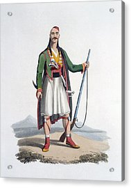 Officer Of The Spahis, 1818 Acrylic Print by English School
