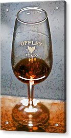 Offley Port Wine Glass Acrylic Print by David Letts