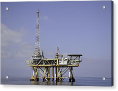 Acrylic Print featuring the photograph Offshore Gas Platform by Bradford Martin