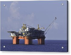 Offshore Production Platform Acrylic Print