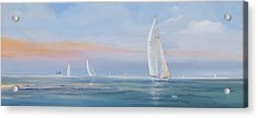 Offshore Sailing Acrylic Print by Jim Christley